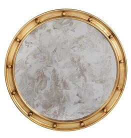 WORLDS AWAY FEDERAL GOLD LEAF MIRROR