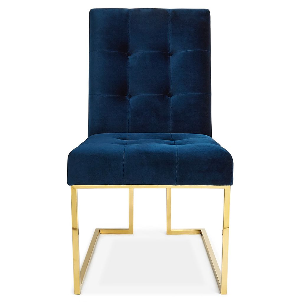 JONATHAN ADLER GOLDFINGER DINING CHAIR IN NAVY