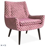 JONATHAN ADLER MRS. GODFREY CHAIR IN VAPOR BERRY