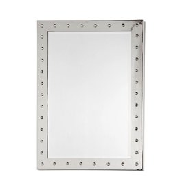 WORLDS AWAY WILSON MIRROR IN SILVER