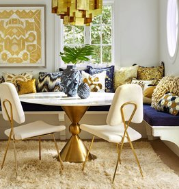 JONATHAN ADLER CARACAS DINING TABLE - MARBLE