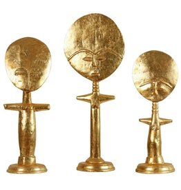 BUNGALOW 5 AKURE SET OF 3 STATUES, GOLD