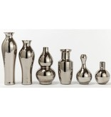 TOZAI HOMES/6 TRADIONAL SILVER VASES PORCELAIN