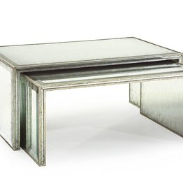 SET OF TWO EGLOMISE NESTING COCKTAIL TABLES
