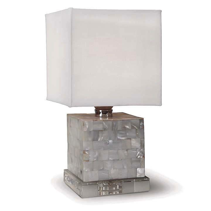 MOP MINI COBE LAMP WITH CRYSTAL BASE