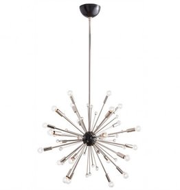 POLISHED NICKEL IMOGENE SMALL CHANDELIER