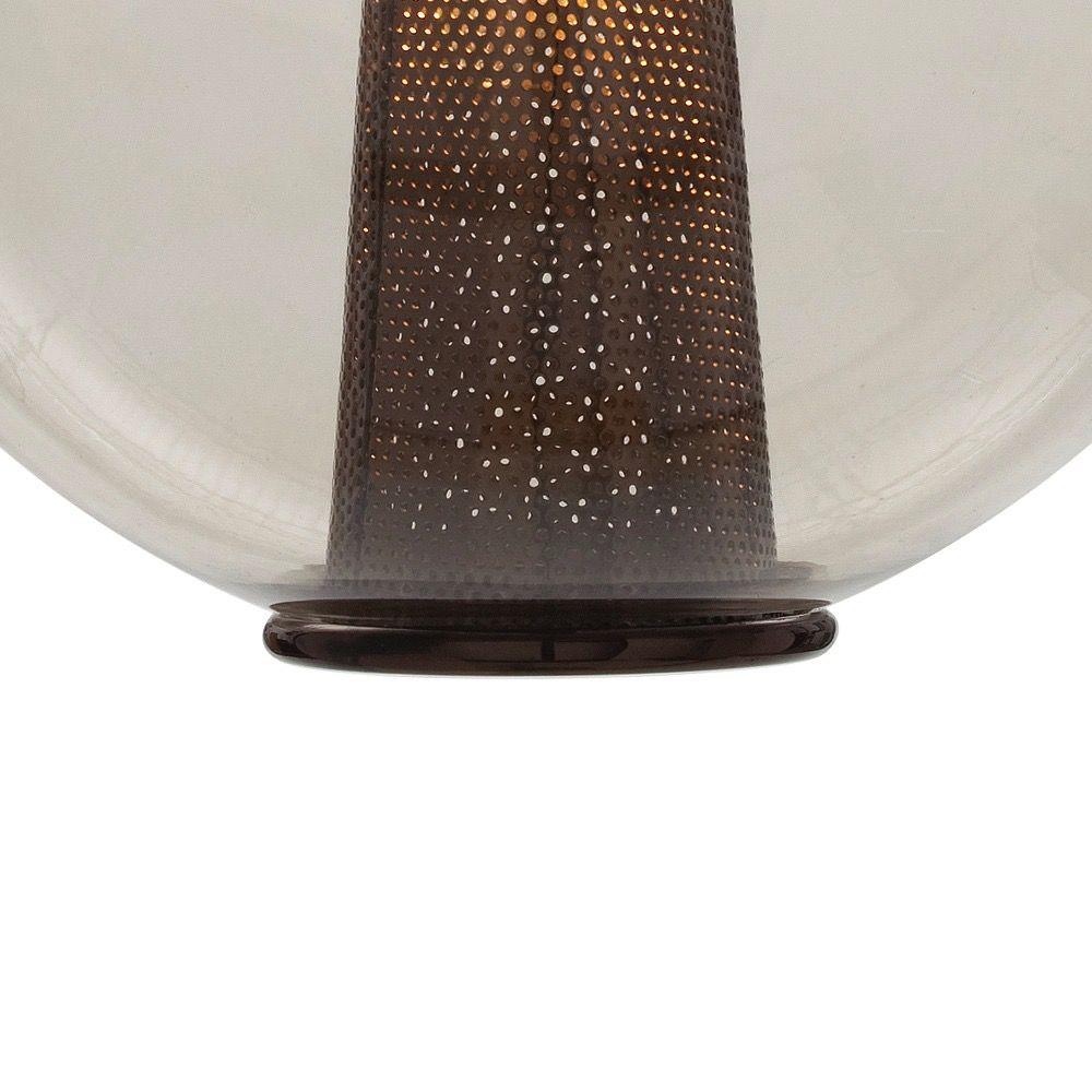 ARTERIORS CAVIAR LARGE SMOKE GLASS PENDANT IN BROWN NICKEL