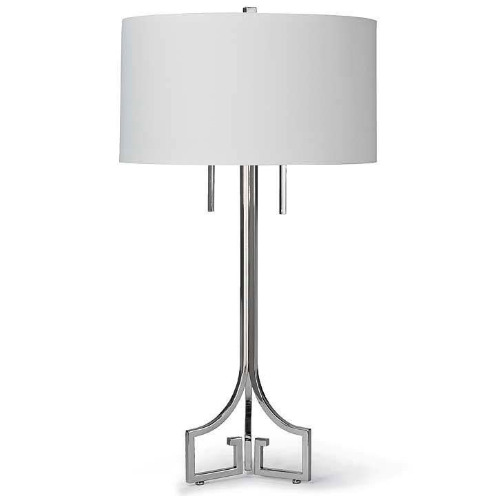 LE CHIC POLISHED NICKEL TABLE LAMP