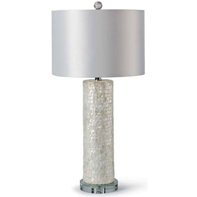 SCALLOPED CAPIZ LAMP