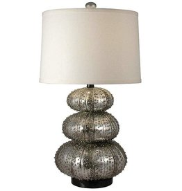 RESTACKED SILVER SEA  URCHIN LAMP