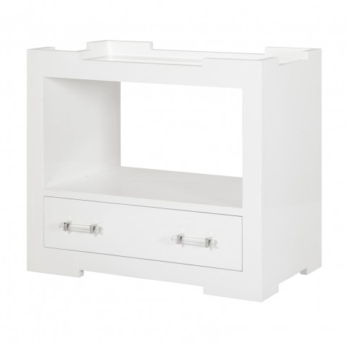 MONICA WHITE SIDE TABLE