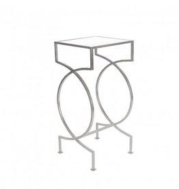 SAMANTHA NICKEL SIDE TABLE