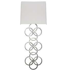 HARRIET SILVER WALL SCONCE