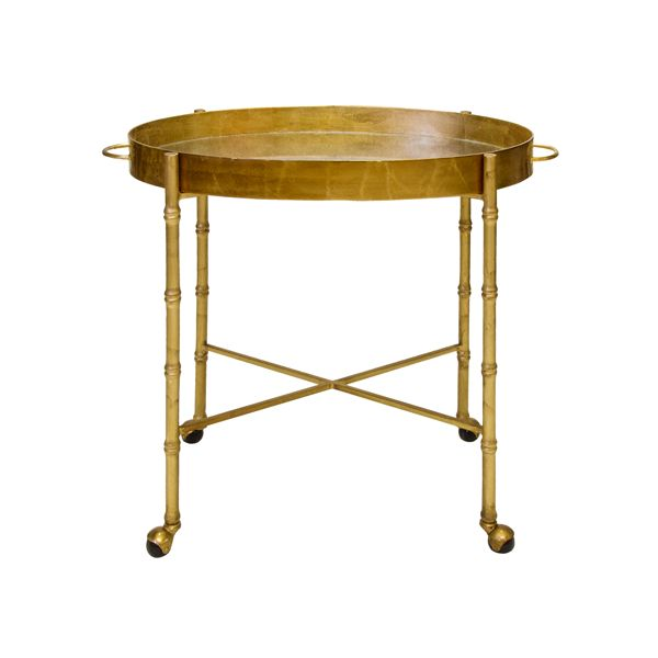 BRIGHTON GOLD LEAF BAR CART
