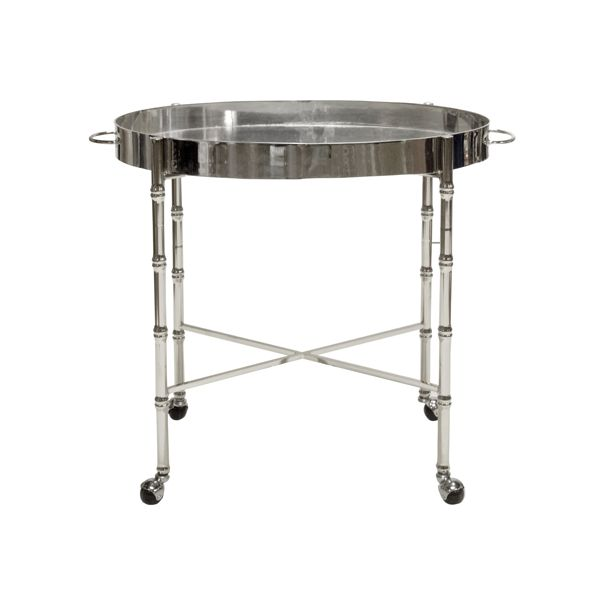 BRIGHTON SILVER LEAF BAR CART