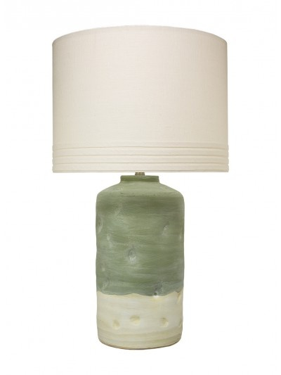 MOHAVE TABLE LAMP w/ LARGE BANDED DRUM SHADE