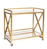 GERARD GOLD LEAF BAR CART