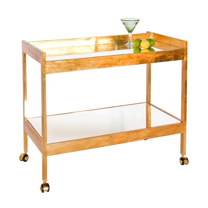 ROLAND GOLD LEAF BAR CART