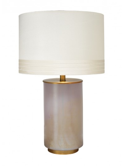 MEDIUM VAPOR TABLE LAMP w/ MEDIUM BANDED DRUM SHADE