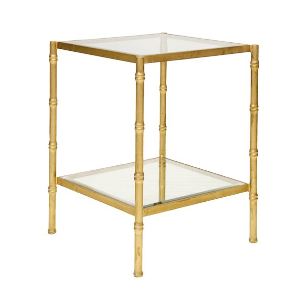 SERENA GOLD SIDE TABLE