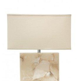 LARGE BOREALIS TABLE LAMP w/ LARGE RECTANGLE SHADE