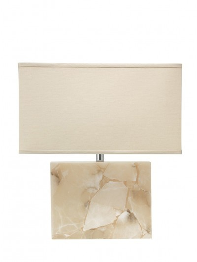 LARGE BOREALIS TABLE LAMP w/ LARGE RECTANGLE SHADE