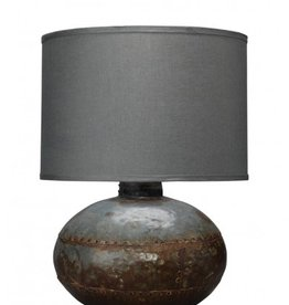 CAISSON TABLE LAMP w/ CLASSIC DRUM SHADE