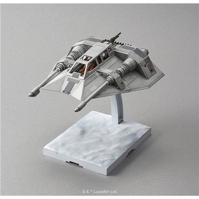 "BAN - Bandai Gundam 196692 Snow Speeder ""Star Wars"", Bandai Star Wars 1/48 Plastic Model"