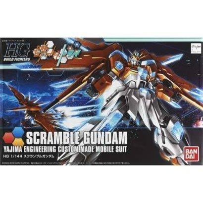BAN - Bandai Gundam 207605 HGBF 1/144 Scramble Gundam Build Fighters Try