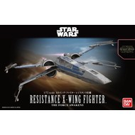 BAN - Bandai Gundam 1/72 Resistance X-Wing Star Fighter SW Frc Awkn