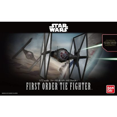 "BAN - Bandai Gundam 203218 First Order Tie Fighter ""Star Wars: The Force Awakens"", Bandai Star Wars 1/72 Plastic Model"