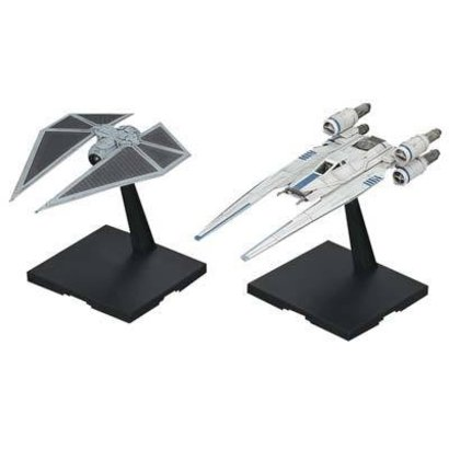 BAN - Bandai Gundam 212184 1/144 U-Wing Fighter and Tie Striker Rogue One