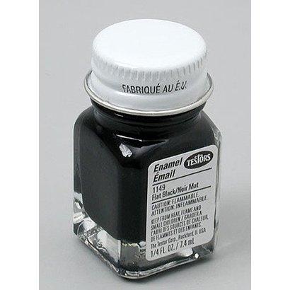 TES - Testors 1149TT Flat Black .25 oz