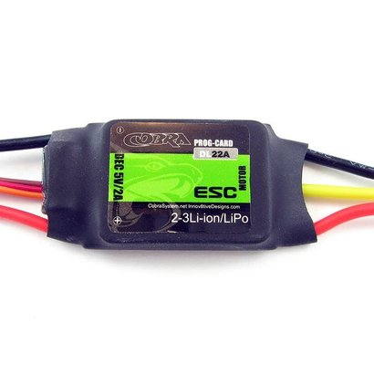 COB Cobra Motors C-22A-ESC Cobra 22A ESC with 2A Linear BEC *