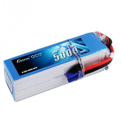 Gens ace GENS ACE 5000MAH 22.2V 60C 6S1P LIPO BATTERY PACK WITH EC5 PLUG