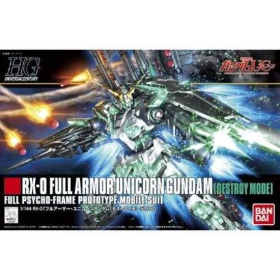 "BAN - Bandai Gundam 189487 #178 Full Armor Unicorn Gundam (Destroy Mode) ""Gundam UC"", Bandai HGUC 1/144"