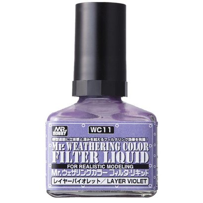 GNZ-Gunze Sangyo WC11 Filter Liquid violet GSI, Mr. Weathering Color Paint