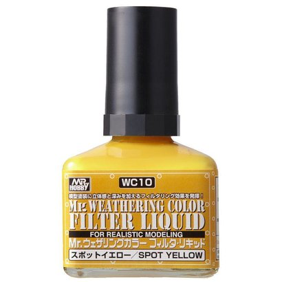 GNZ-Gunze Sangyo WC10 Filter Liquid Yellow GSI, Mr. Weathering Color Paint