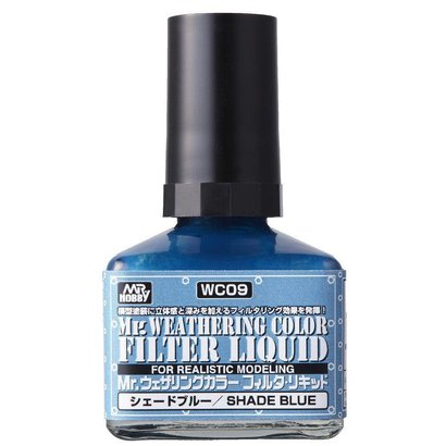 GNZ-Gunze Sangyo WC09 Filter Liquid Blue Gray GSI, Mr. Weathering Color Paint