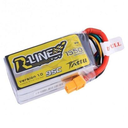 Tattu Tattu R-Line 1550mAh 95C 4S1P lipo battery pack with XT60 Plug