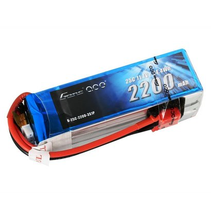 Gens ace Gens ace 2200mAh 11.1V 25C 3S1P Lipo Battery Pack with Deans plug