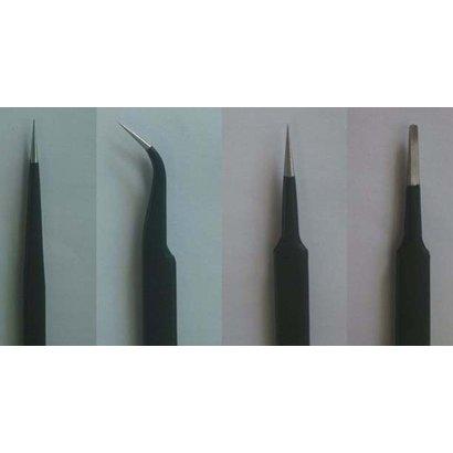 TSM - Trumpeter Models 09957 Tweezers Set (4pcs): Long, Curved, Straight, Flat