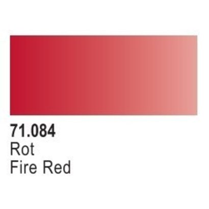 VLJ-VALLEJO ACRYLIC PAINTS 71084 FIRE RED  17ML - Model Air *