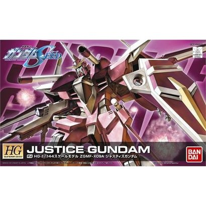 BAN - Bandai Gundam 175304 1/144 HG #R14 ZGMF-X09A Justice Gundam Remast