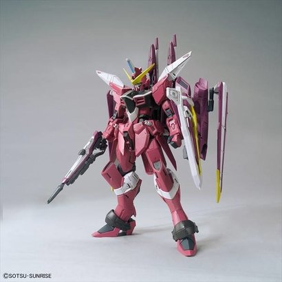 BAN - Bandai Gundam 216382 1/100 Justice Gundam Gundam ZGMF-X09A  Seed Bandai MG