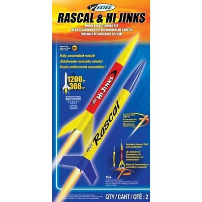 EST - Estes 001499 Rascal and HiJinks Launch Racket Set RTF Ready