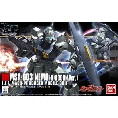 BAN - Bandai Gundam 175331 1/144 HGUC #140 Nemo Unicorn Version