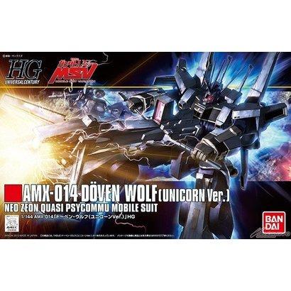 BAN - Bandai Gundam 183658 1/144 HGUC #160 Doven Wolf (Unicorn Ver)