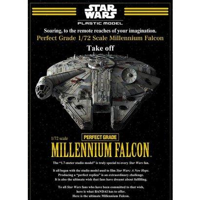 BAN - Bandai Gundam Star Wars Millennium Falcon 1/72 Perfect Grade