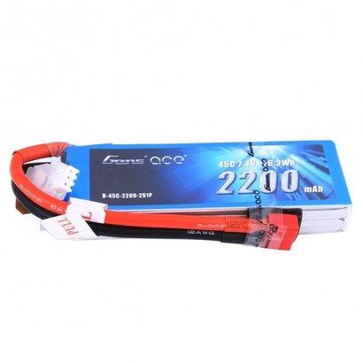 Gens ace Gens ace 2200mAh 7.4V 45C 2S1P Lipo Battery Pack Deans plug